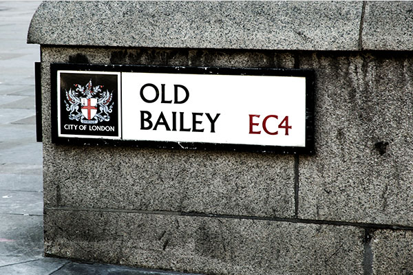 The Old Bailey street sign