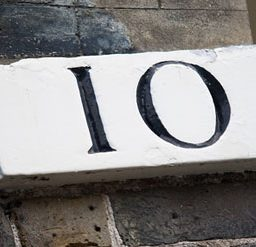 Number 10 door sign